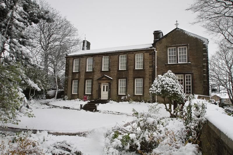 Bronte Parsonage in the snow