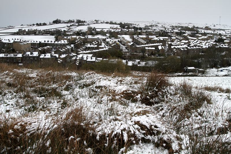 Haworth Brow in the snow