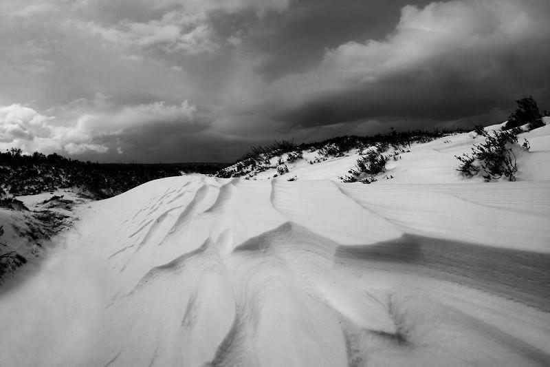 Stanbury moor snowdrift