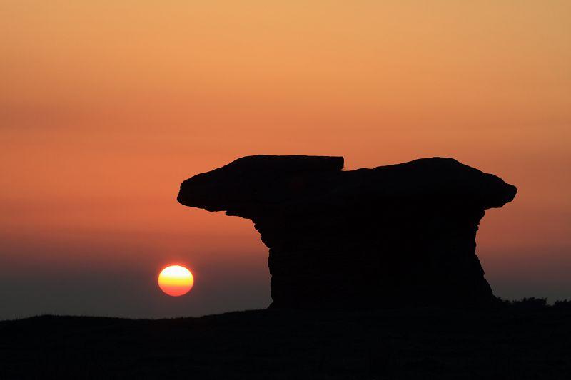 Doubler Stone, Addingham Moorside Sunset
