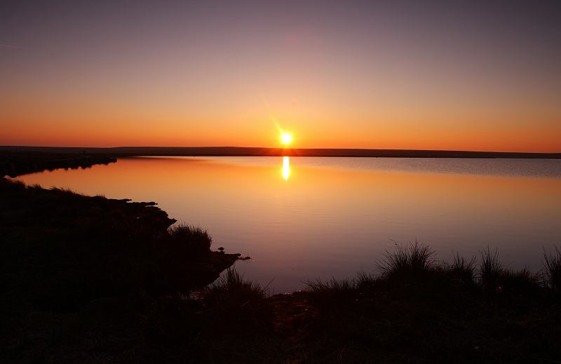 Sunset at Warley Moor Reservoir