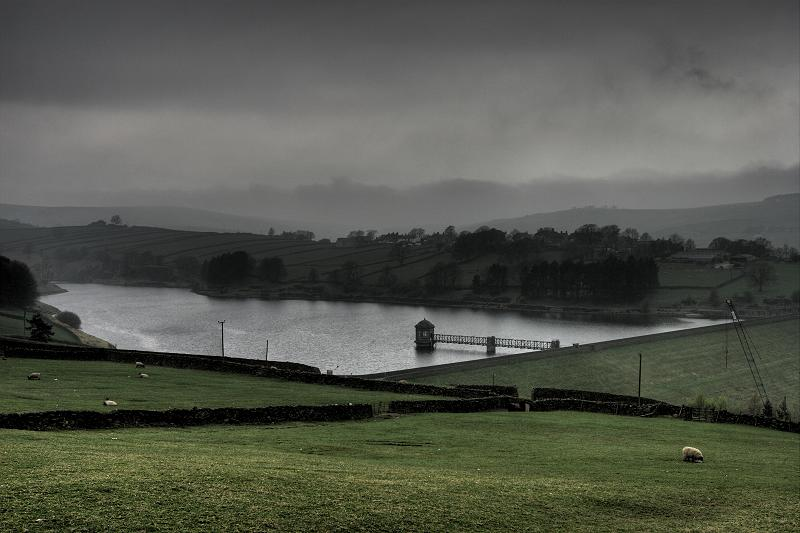 Lower Laithe Reservoir - misty morning