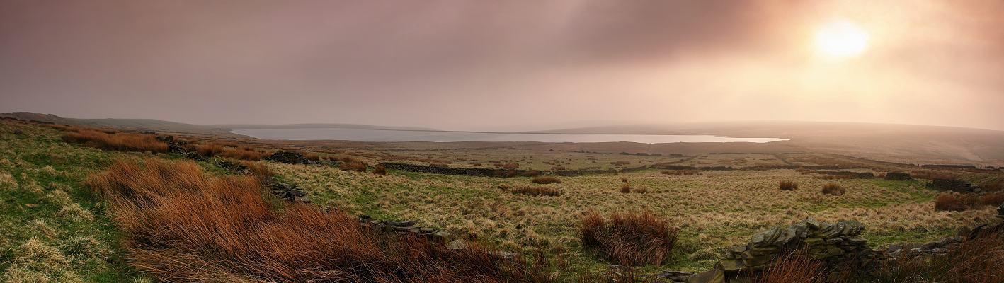 Warley Moor Reservoir evening