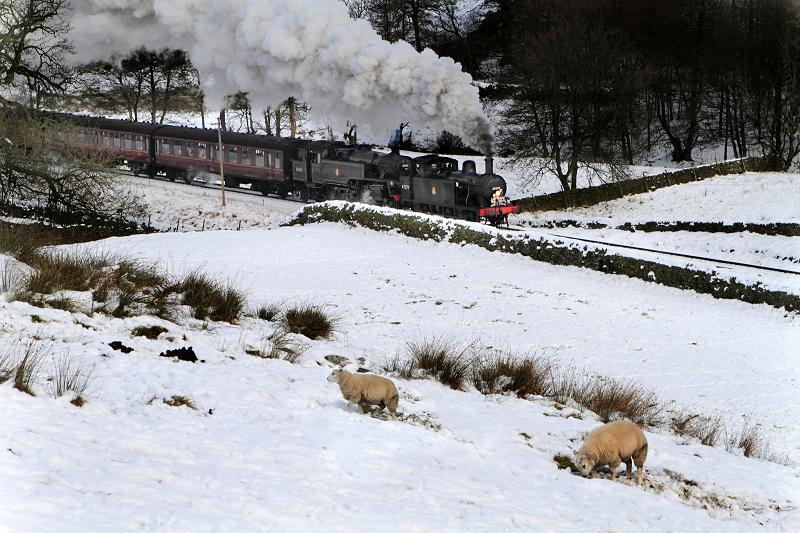 Steam Railway Santa Special in the snow