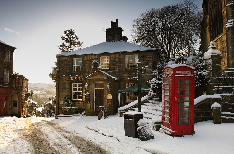 Haworth Main St, snow