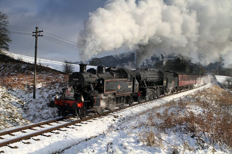Steam Railway Santa Special in the snow