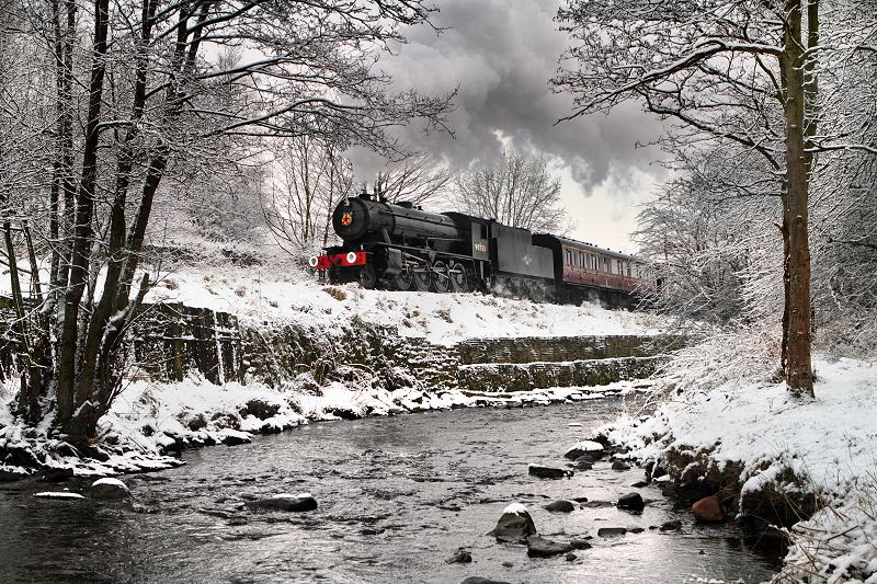 Keighley and Worth Valley Railway - snow