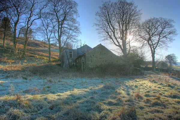 North Far Ives Farm, morning frost