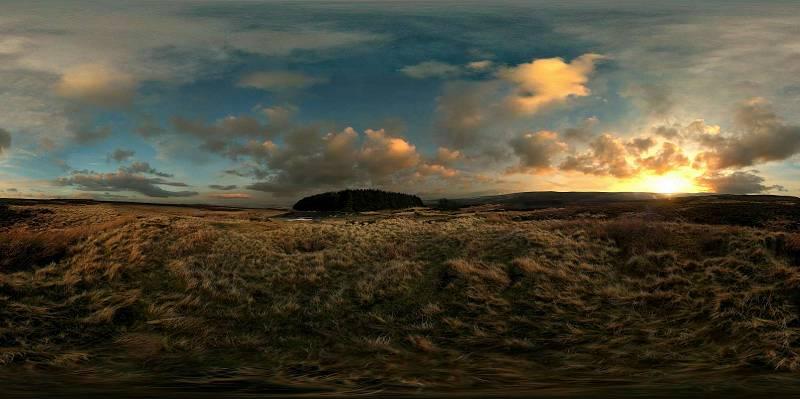 Moor sunset panorama
