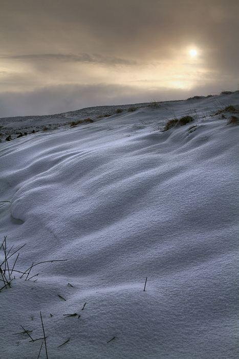 Snow drift on Haworth moor