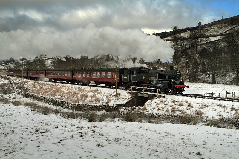 Steam Locomotive and snow