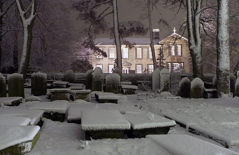 Bronte Parsonage at night