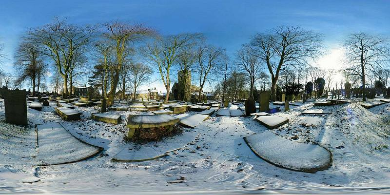 Haworth Graveyard panorama