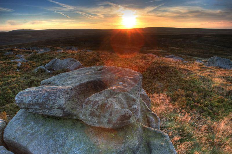 Alcomden stones - sunset