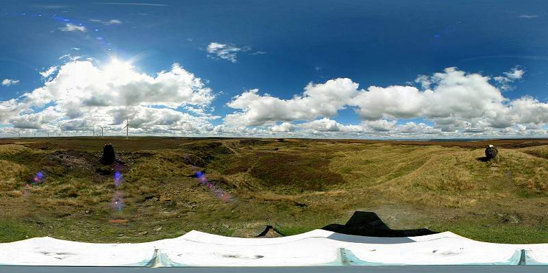 Oxenhope Moor panorama