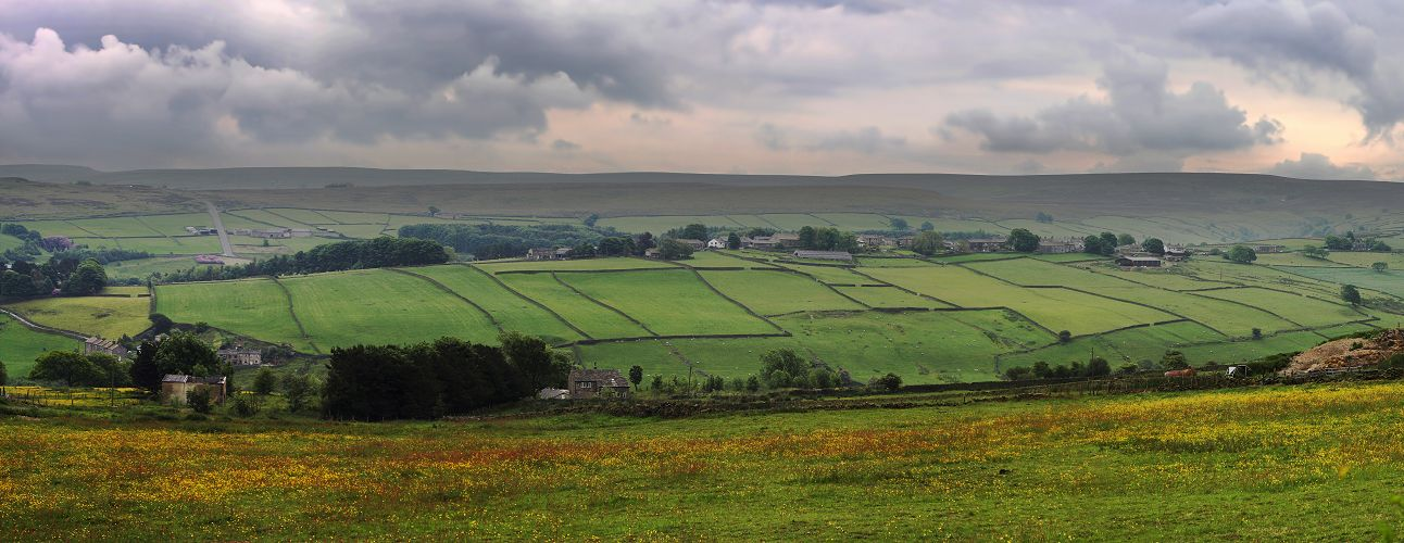 Stanbury from Oldfield panorama