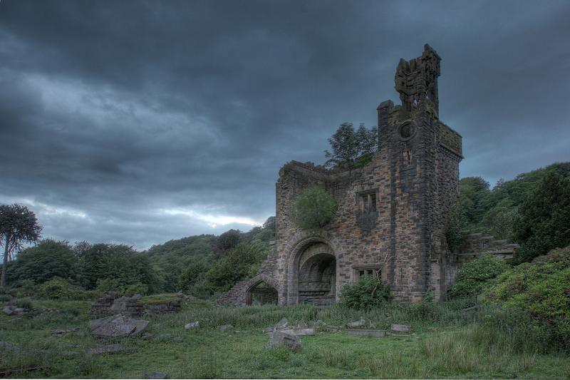 Castle Carr in ruins
