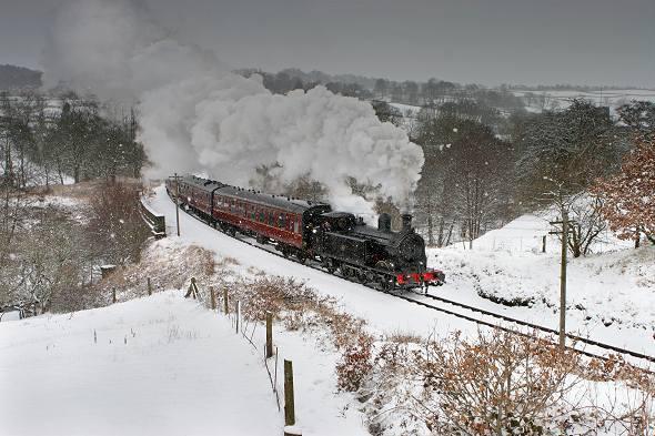 Snow and steam locomotive KWVR