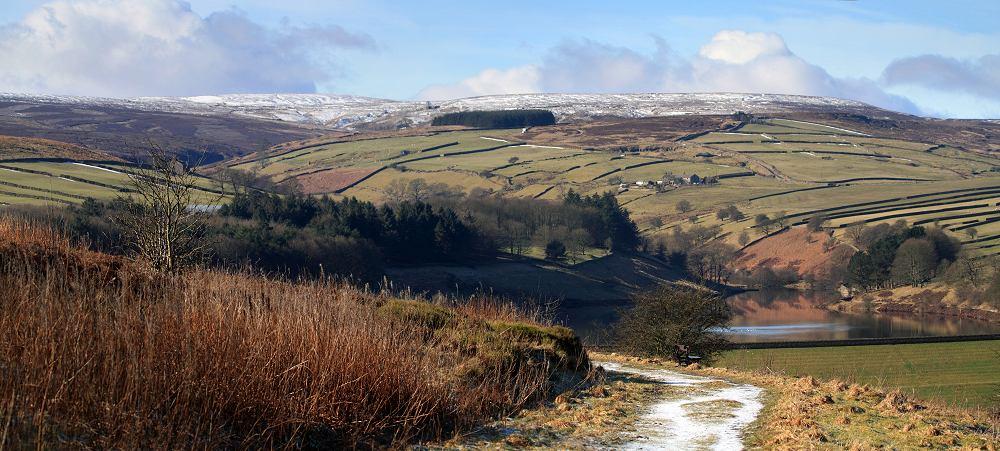Stanbury moor panorama