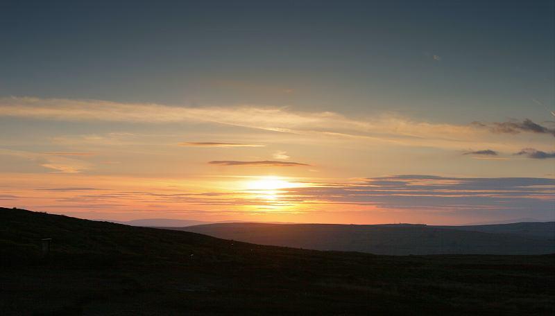 Sunset looking towards Stanbury