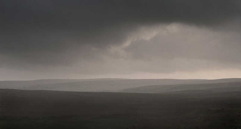 Rain over Haworth moor