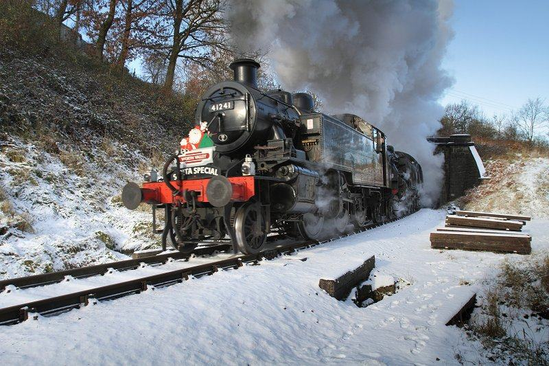 Steam Train Santa Special in snow