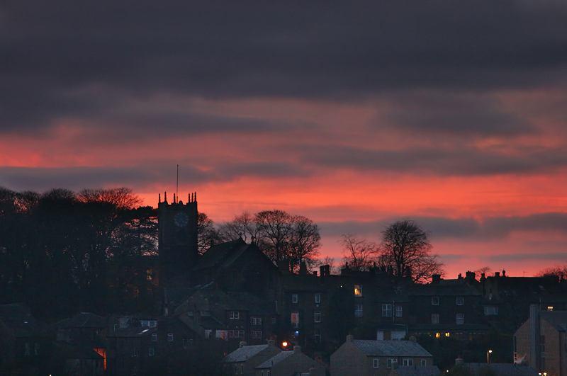 Haworth sunset