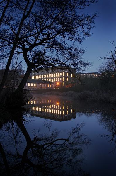 Ebor mill at dusk