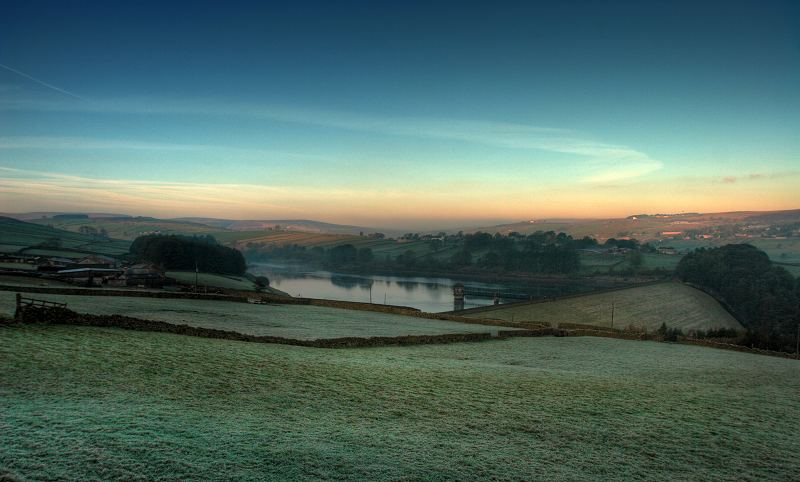 Lower Laithe Reservoir and Stanbury
