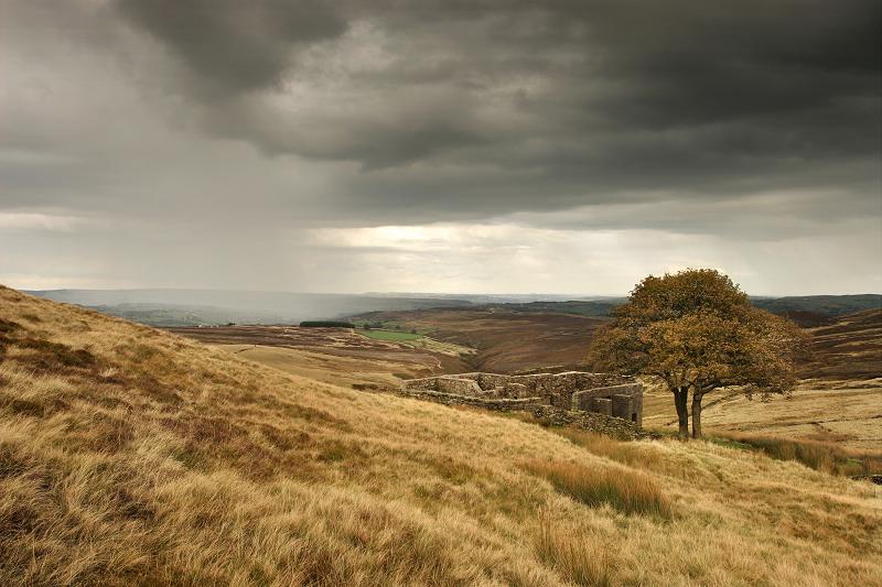 Top Withens - Stanbury rain