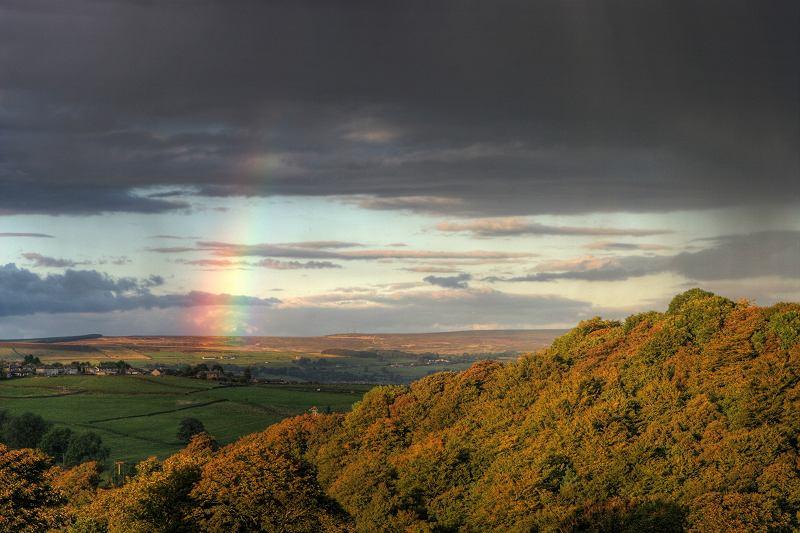 Rainbow, looking towards Keighley