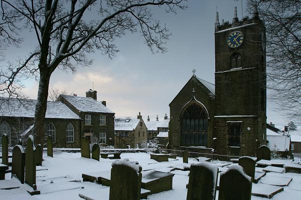 Haworth church and graveyard